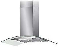 Baumatic Island Hood, Glass & Stainless Steel Hood.